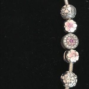 Pandora bracelet set.